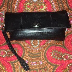 Flap wristlet wallet